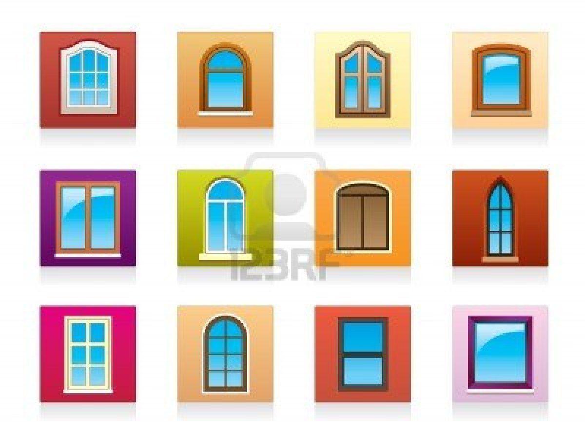 de aluminio de plstico y ventanas de madera foto de archivo