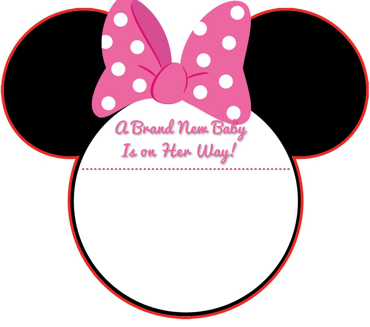 image relating to Minnie Mouse Template Printable identified as Down load Contemporary! Totally free Printable Mickey Mouse Little one Shower