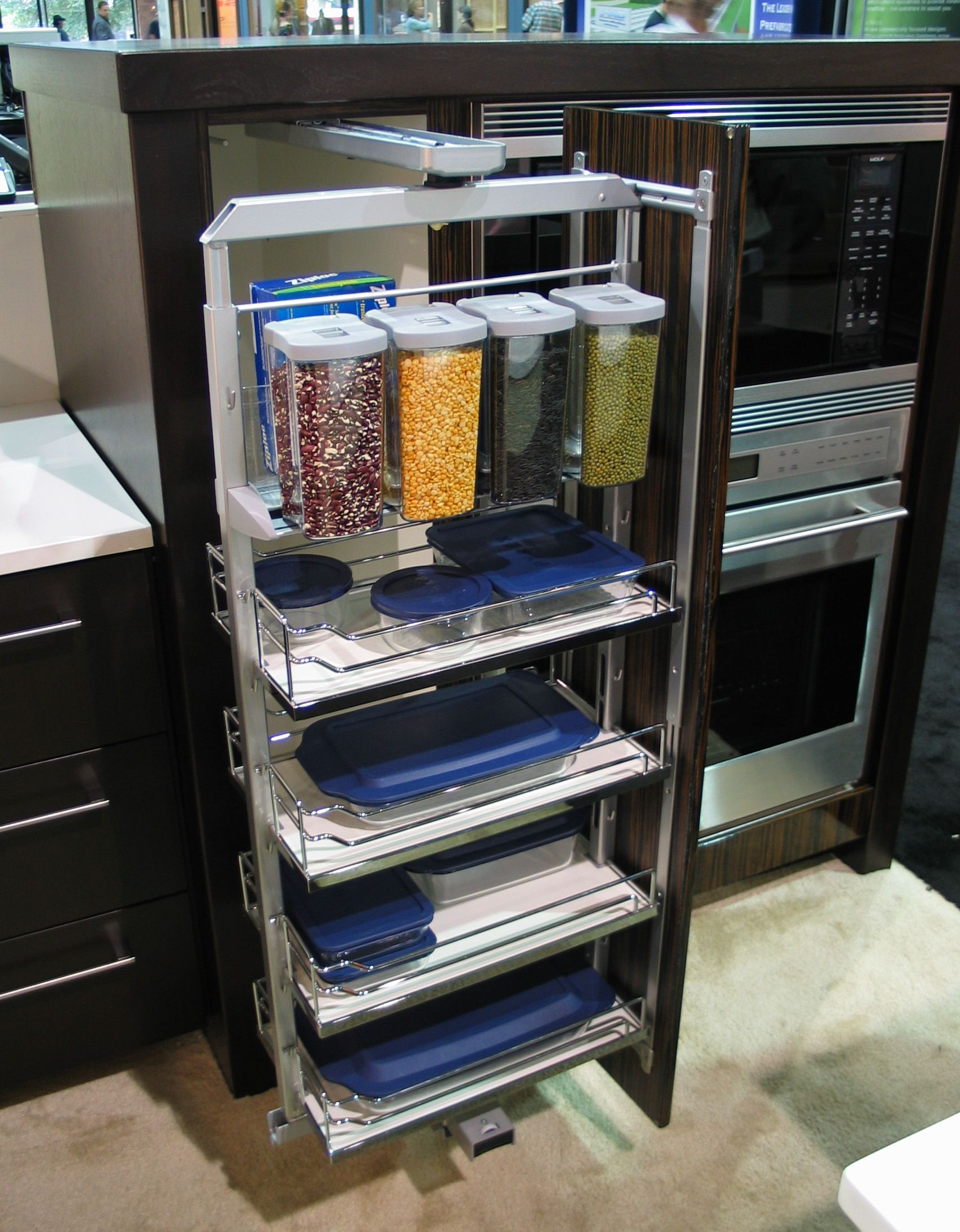 Kitchen Pull Out Drawers Qvc.com Shopping Pullout Pantry That Swings Clever Storage