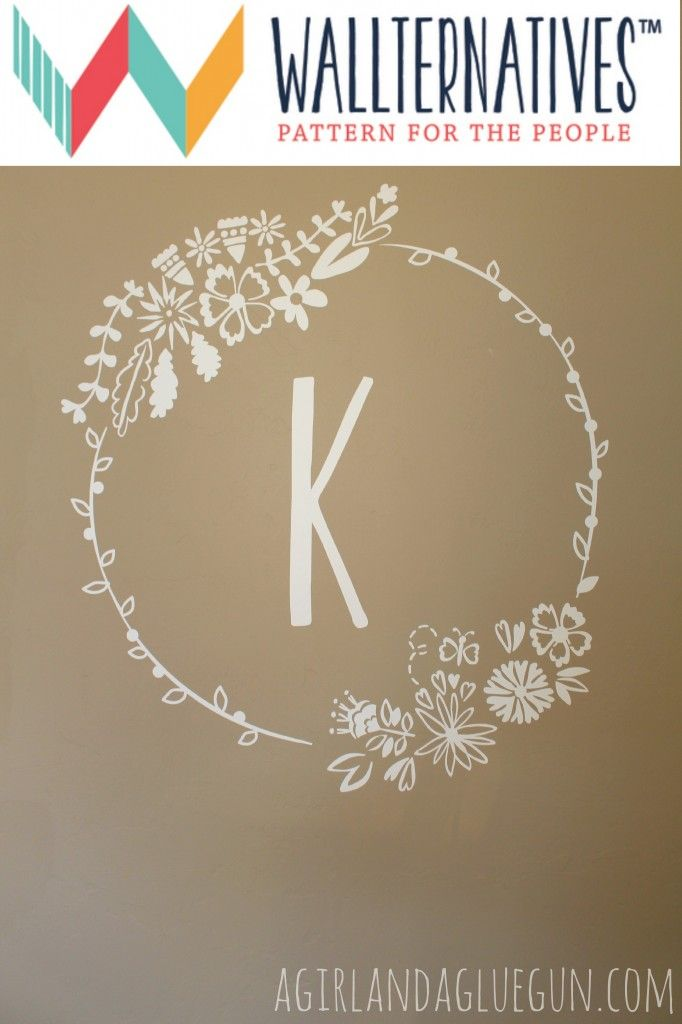 Wildflowers Floral Frame Vinyl Wall Decal Frame It