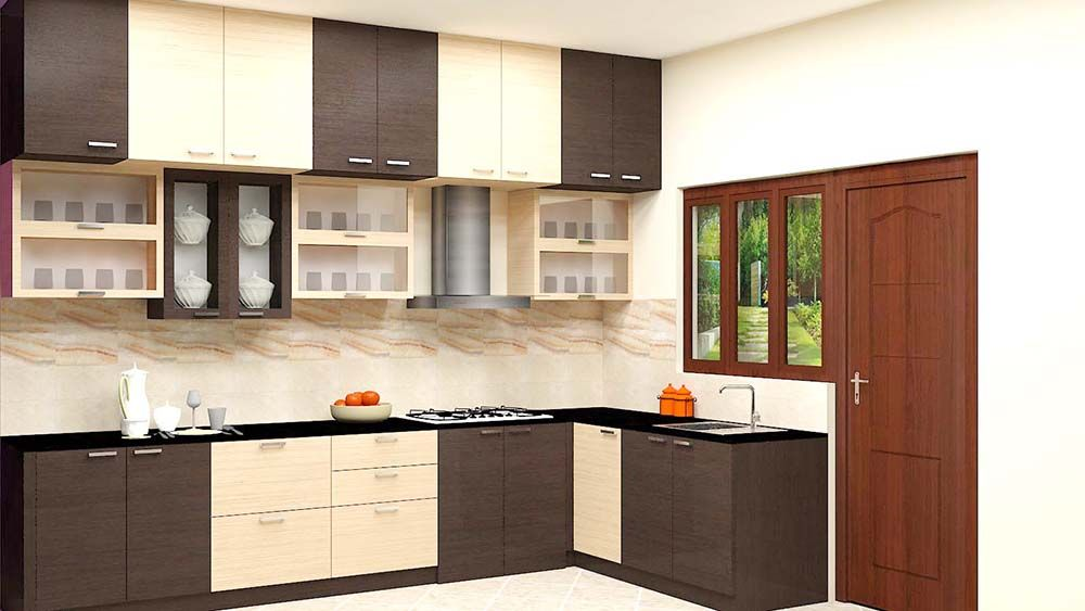 Buy Kokanee L  Shaped Kitchen With Laminate Finish Online In Amusing Kitchen Designs Online Design Ideas