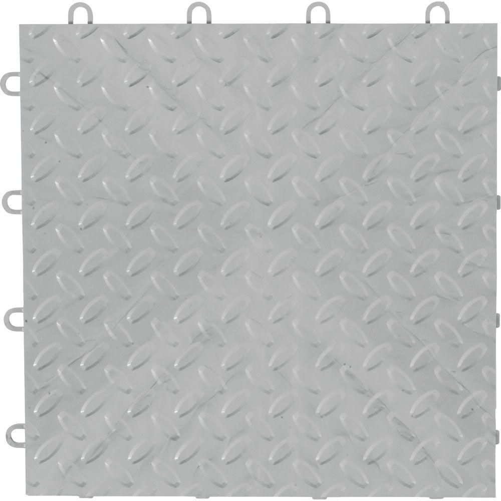 12 in x 12 in silver polypropylene garage flooring tile 48 pack silver polypropylene garage flooring tile 48 pack dailygadgetfo Image collections