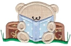 2 Cute Bears Applique 10 - 2 Sizes! | Camping | Machine Embroidery Designs | SWAKembroidery.com Bunnycup Embroidery
