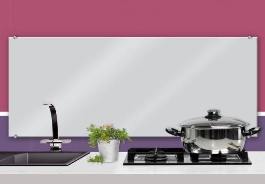 Pannelli paraschizzi - Pannello paraschizzi Grigio chiaro K2 4C - alu dibond küchenrückwand erfahrung