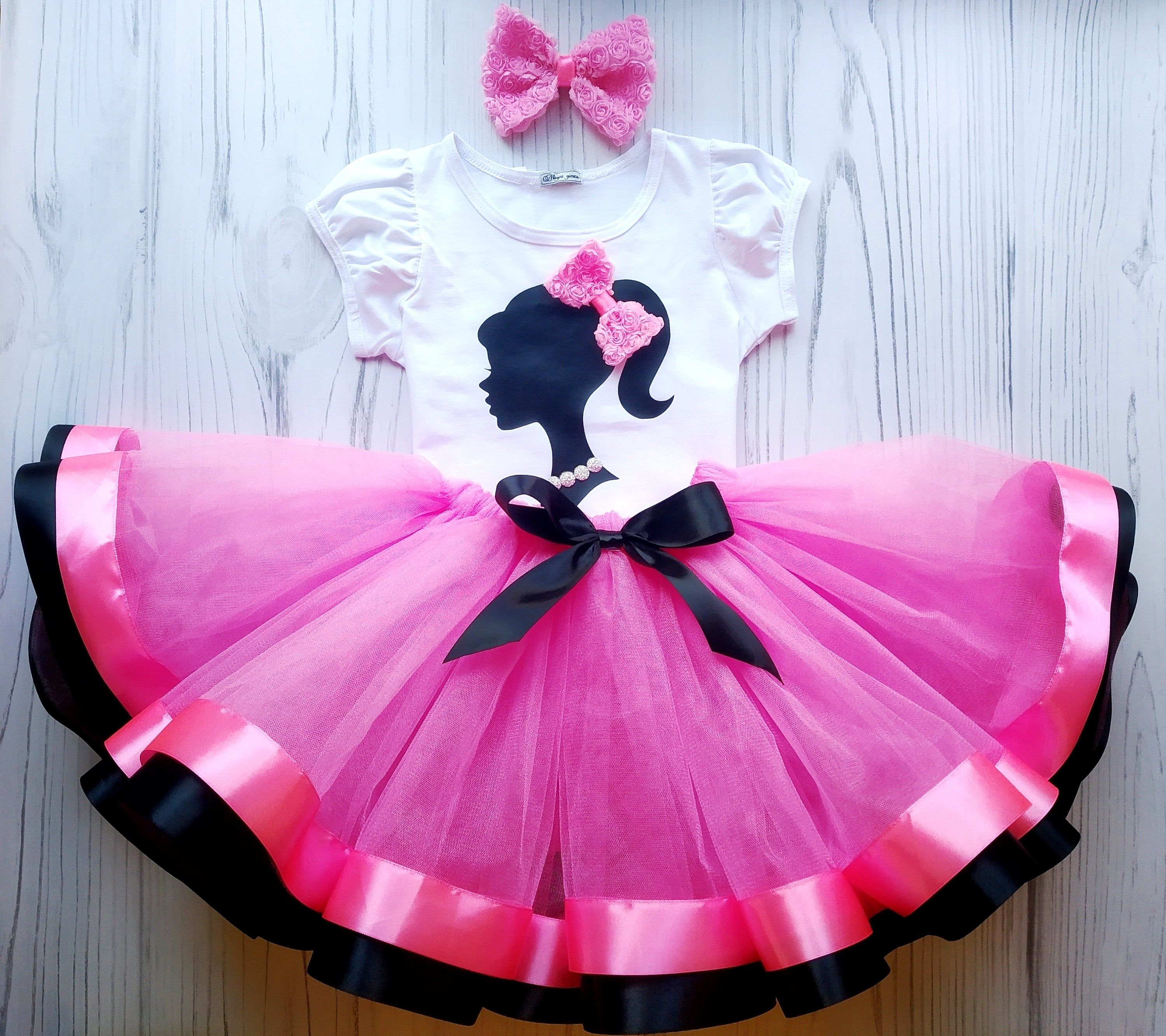 Barbie birthday outfit pink barbie tutu outfit pink and
