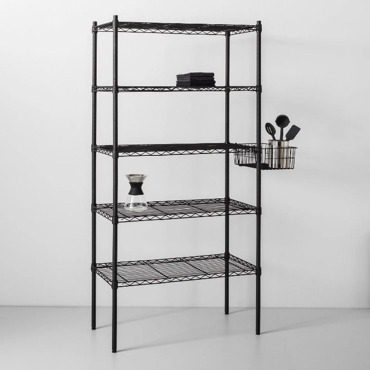 5 Tier Wide Wire Shelf Made By Design In 2020 Wire Shelving Made By Design Shelves