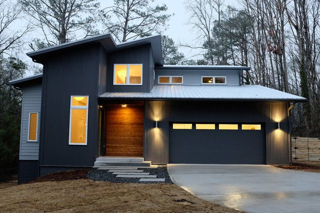 Cedar Siding, Metal Siding & Corrugated Metal - Modern Exterior By ...