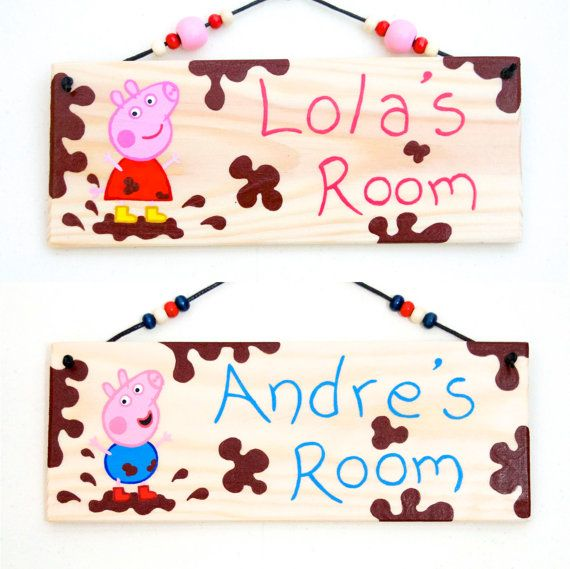 Peppa Pig George Pig Bedroom Door Sign