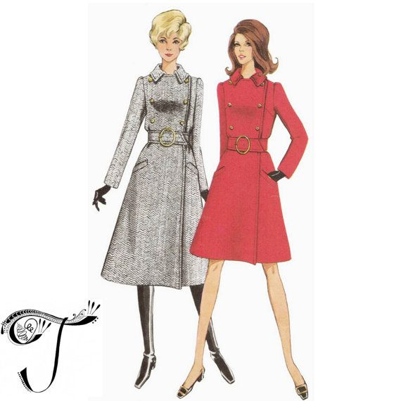 Style sewing patterns 2208 coat pattern 60s design by Tigrisa ...