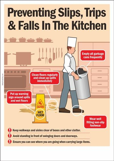 Preventing Slips, Trips And Falls In The Kitchen | Chart