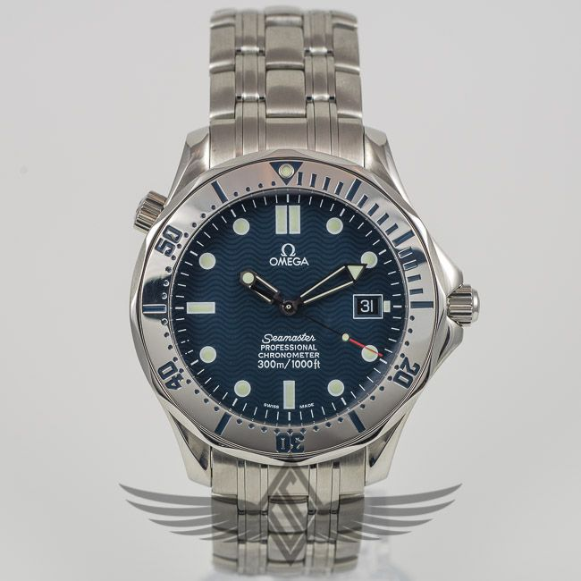 Omega Seamaster 300m Bond Diver 41mm Blue Dial Watch 2532 80 Omega Omega Seamaster Dive Watches