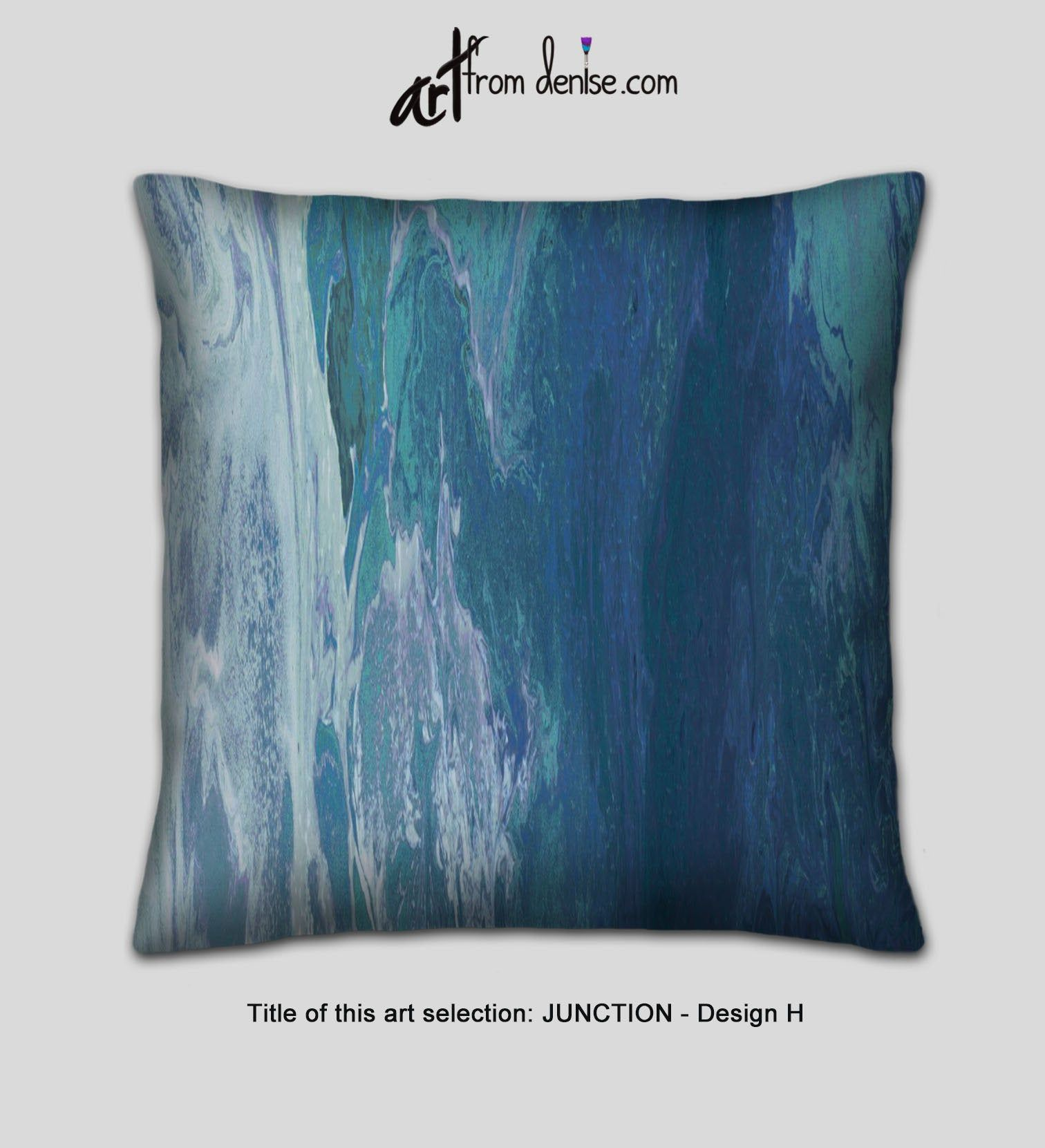 Large Decorative Pillows Gray Navy Blue And Teal Throw Etsy In 2020 Oversized Throw Pillows Teal Throw Pillows Teal Pillows