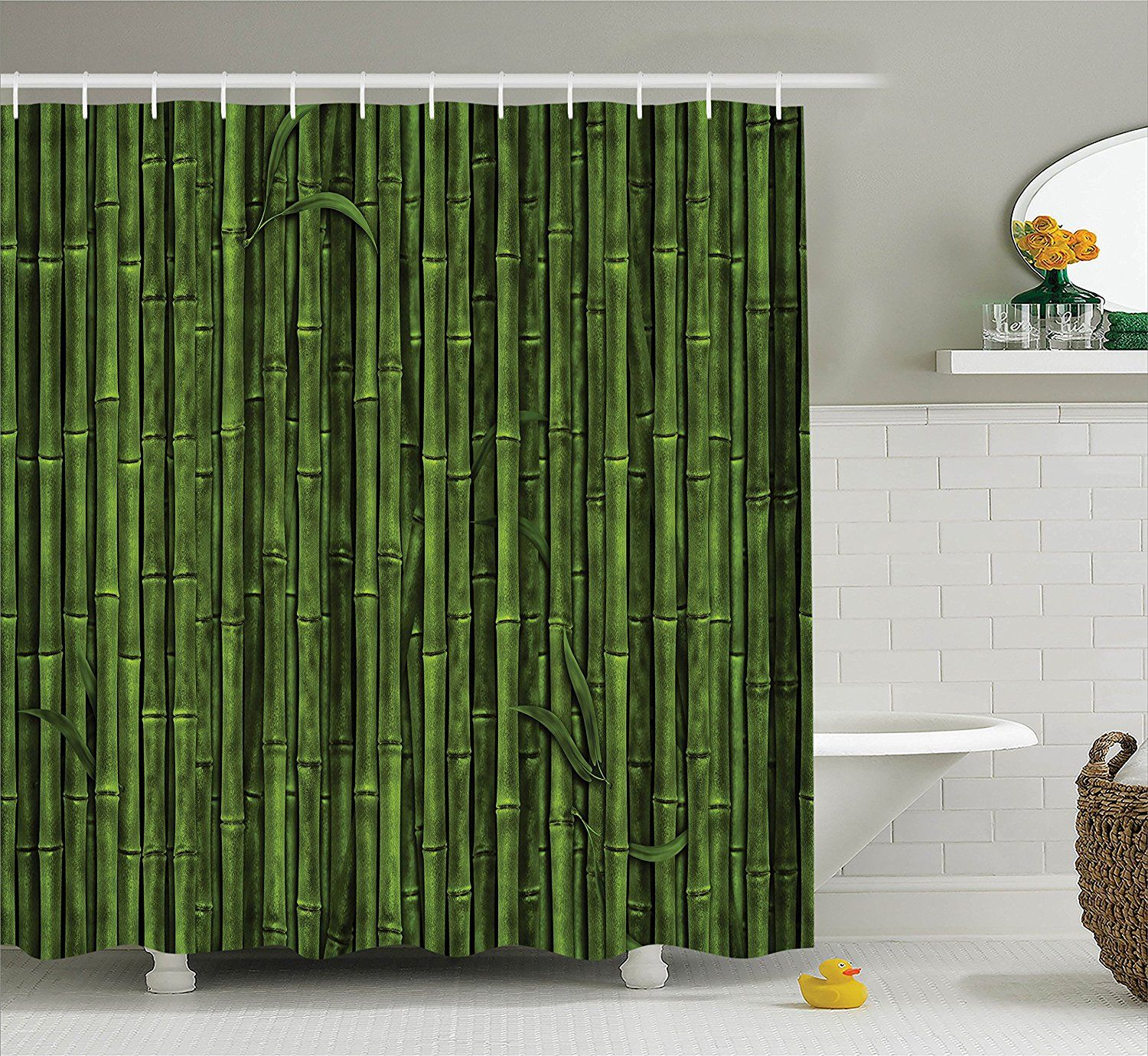 Amazon Com Ambesonne Bamboo House Decor Collection Lined Up Tall