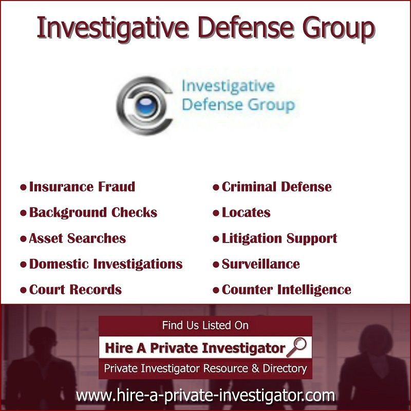 Investigative Defense Group Top Private Investigator In Orlando