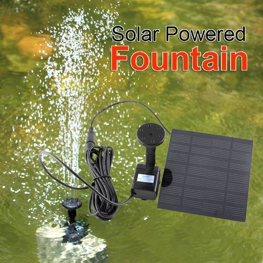 Solar Panel Powered Water Feature Pump Garden Pool Pond Aquarium Fountain HOT