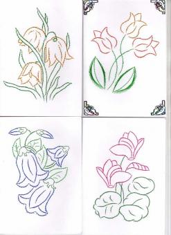 Frühling in Fadengrafik-