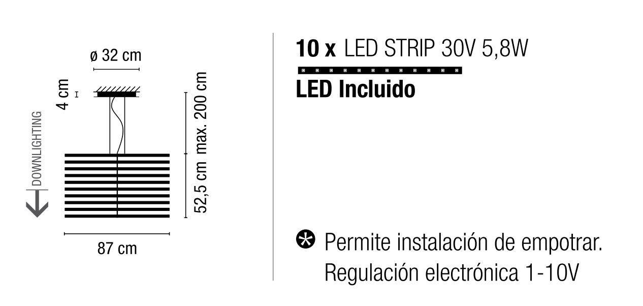 Rhythm 2175 de #Vibia. Lámpara de techo con un diseño transgresor y que permite infinitas configuraciones.