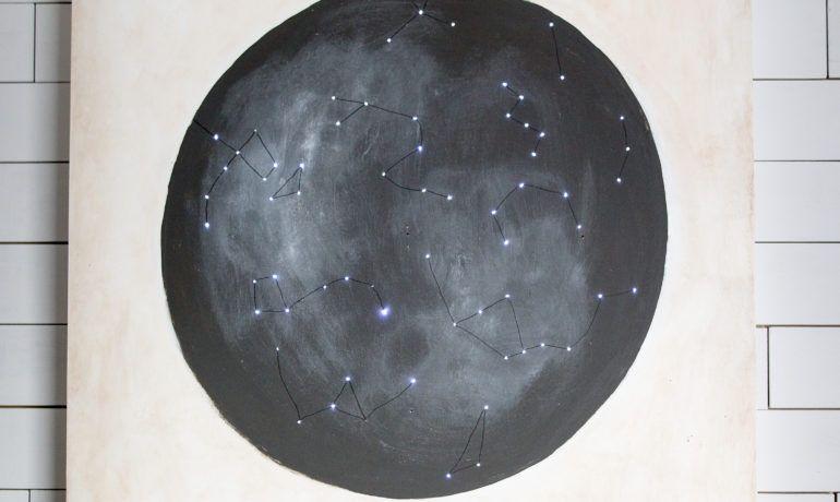 Diy Twinkle Light Constellation Map Art Closet Makeover Diy Constellation Map Art Star Wars Room