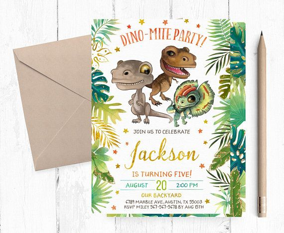 dino mite birthday invitation dinosaurs birthday party invitations