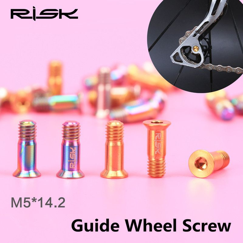 M5 14 2 Titanium Alloy Guide Wheel Bolt Screw Bicycle Rear