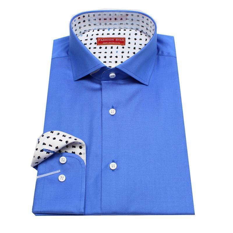 Find More Dress Shirts Information about royal blue men's custom ...