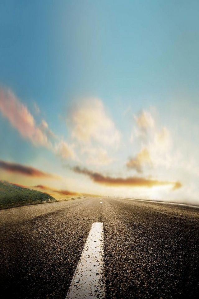 #Phone Nature horizon roads Mobile Wallpaper #Wallpapers
