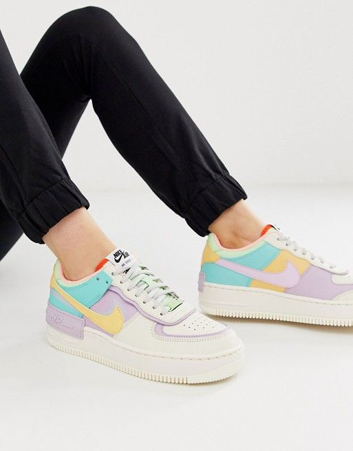 Nike Air Force 1 Shadow trainers in pastel