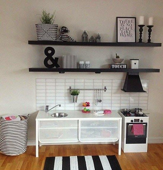 mommo design IKEA HACKS FOR GIRLS  Nittorp tv unit turned into play kitchen  KiDS FURNITuRE AnD DEtAILS  Cose per bambini Bambini Camerette
