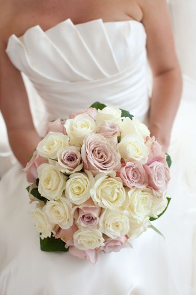 Bridal Bouquet - Ivory and Dusty Pink