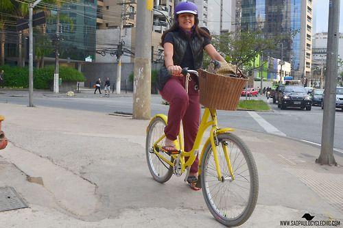 Cycle Chic na Vila Olimpia #Cycle #CycleChic #Bike #Mobilidade