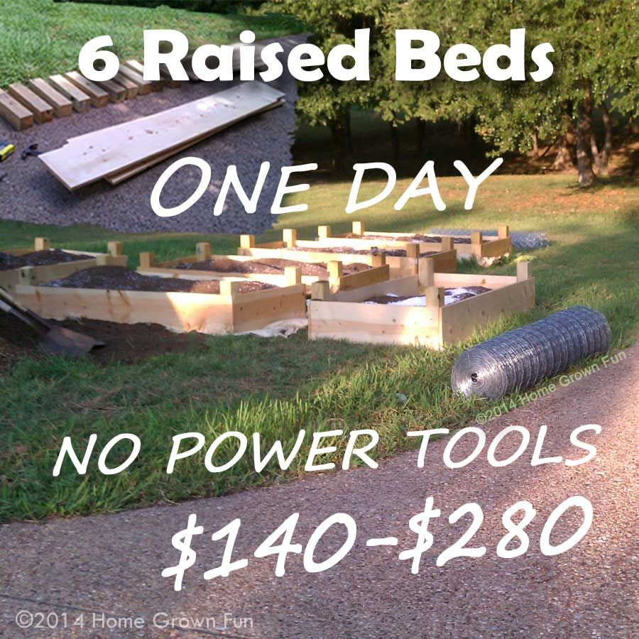 Build 6 Raised Beds In ONE DAY On A Budget