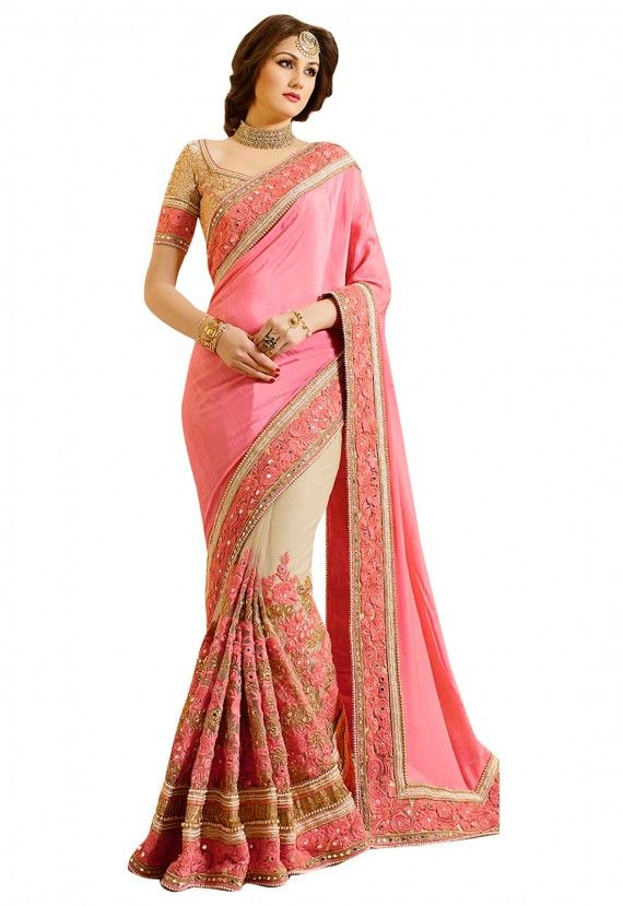 Designer Sarees Collection Multicolor Georgette Embroidery Work