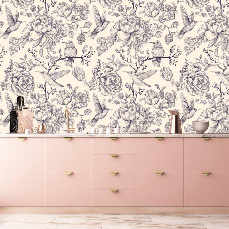Peonies 10 L X 24 W Peel And Stick Wallpaper Roll Removable Wallpaper Peel And Stick Wallpaper Peony Wallpaper