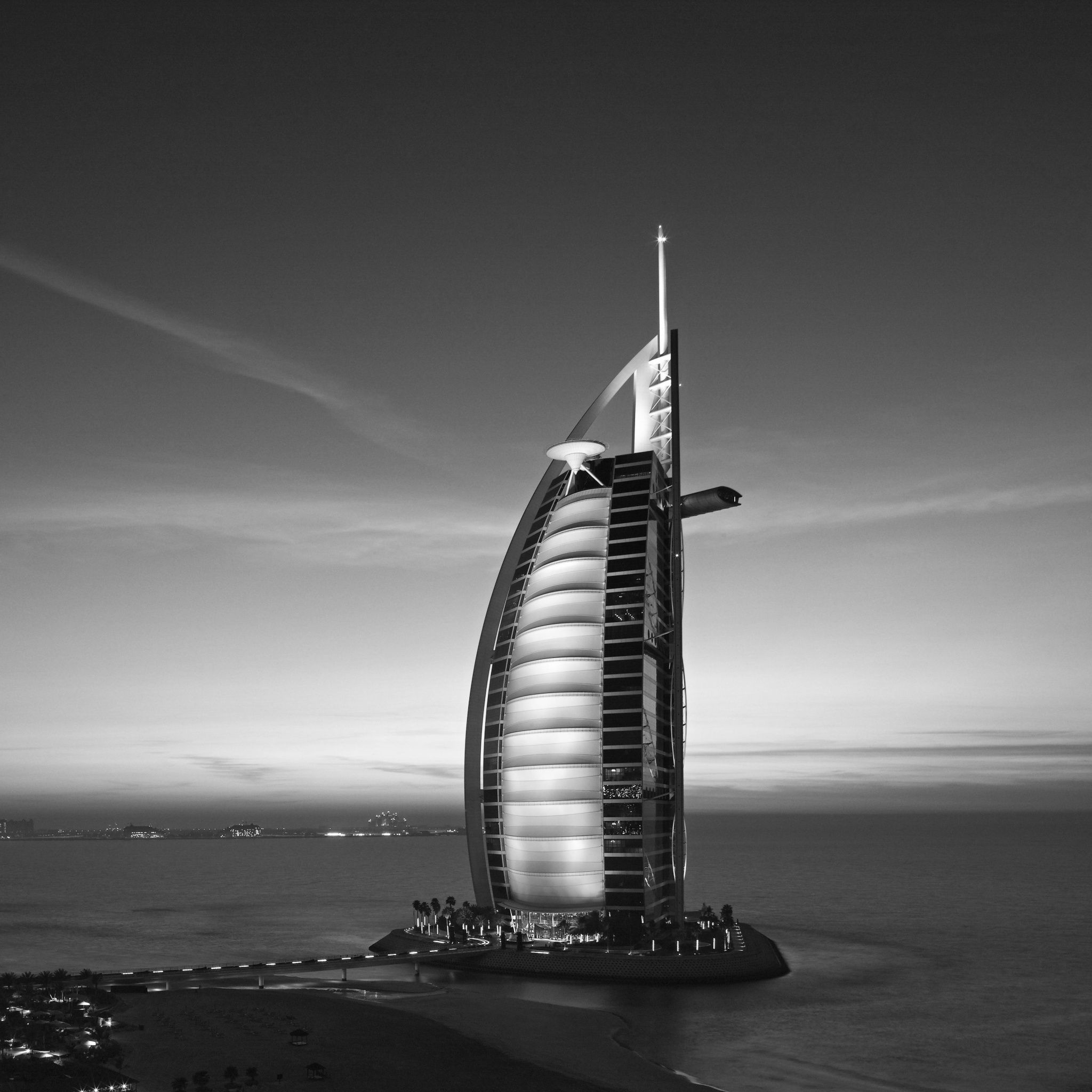 Burj dubai city tap to see more black white city - Burj al arab wallpaper iphone ...