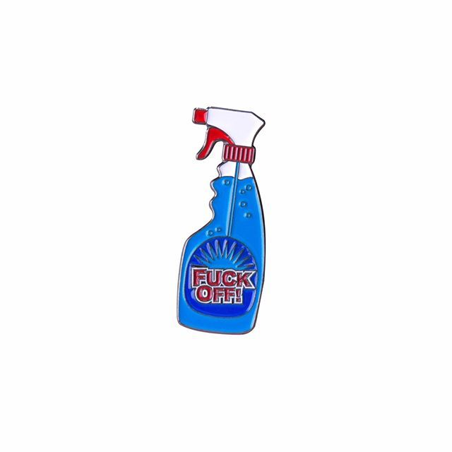 #fuckoff spray bottle pin from @clutchedpins It'll keep them at bay... Buy it through their link in bio! #stayaway #spray #pinlord #pin #pins #enamelpin #enamelpins #lapelpin #lapelpins #pingame #illustrator #illustration #design #designer #art #artist #graphicart #graphicartist #graphicdesign #pintrill #pinlife #patchgame #hatpin #hatpins #softenamel #pinsofig #stickerat