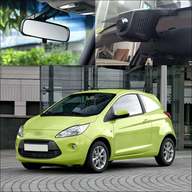 For Ford Ka App Control Car Wifi Dvr Auto Driving Video Recorder Wide Angle Hidden Installation
