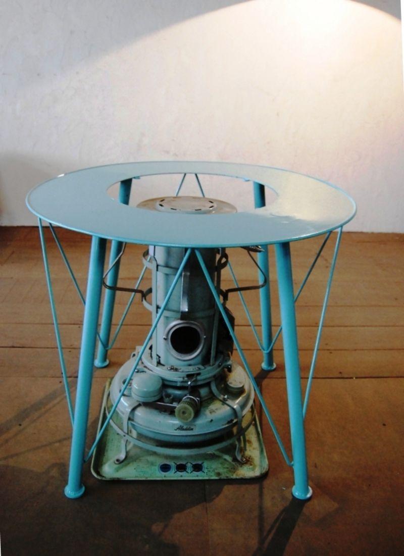 ストーブテーブル アラジンストーブ オリジナル家具 作品 アラジンストーブ ストーブ 家具