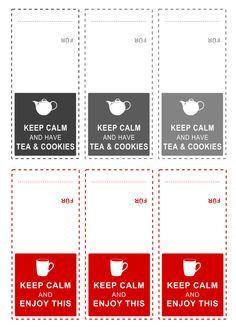Printable Tea Bag Tags Google Search With Images Gift Tag