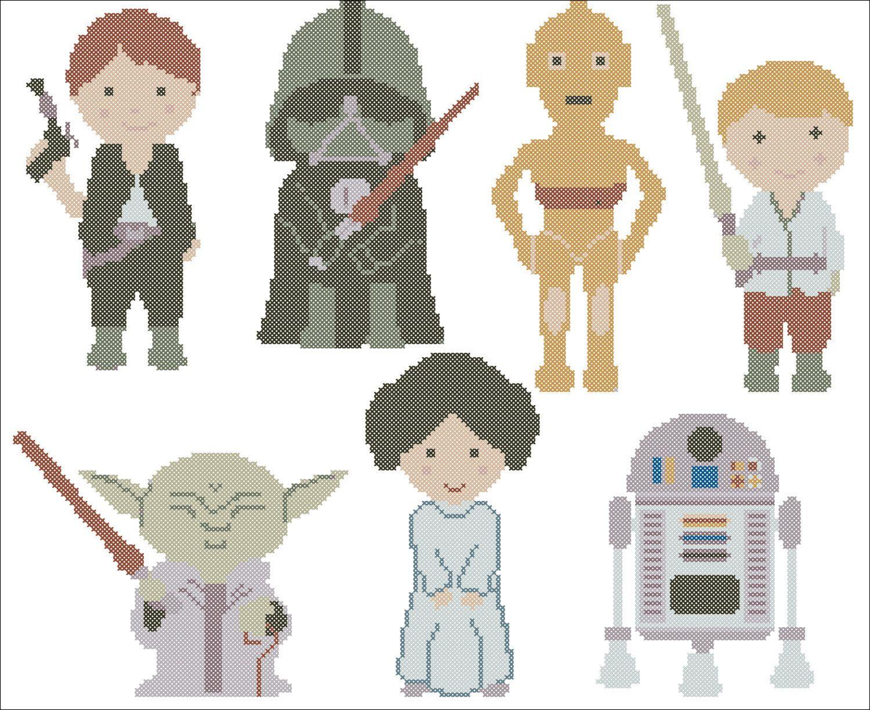 BOGO FREE! Star Wars characters Heroes Cross Stitch Pattern - pdf ...