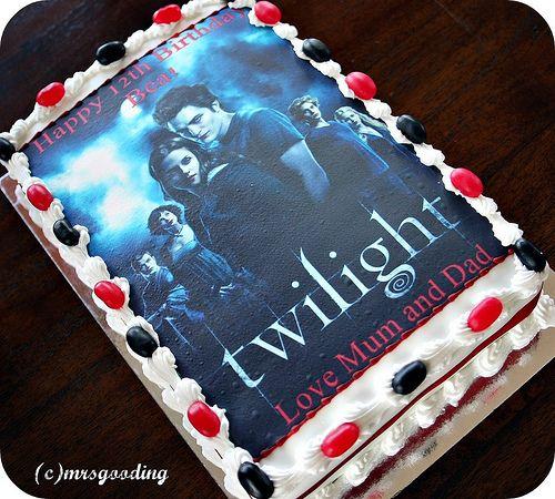 Pleasant Twilight Birthday Taylors Twilight Birthday Cake By Miss Catty Funny Birthday Cards Online Overcheapnameinfo