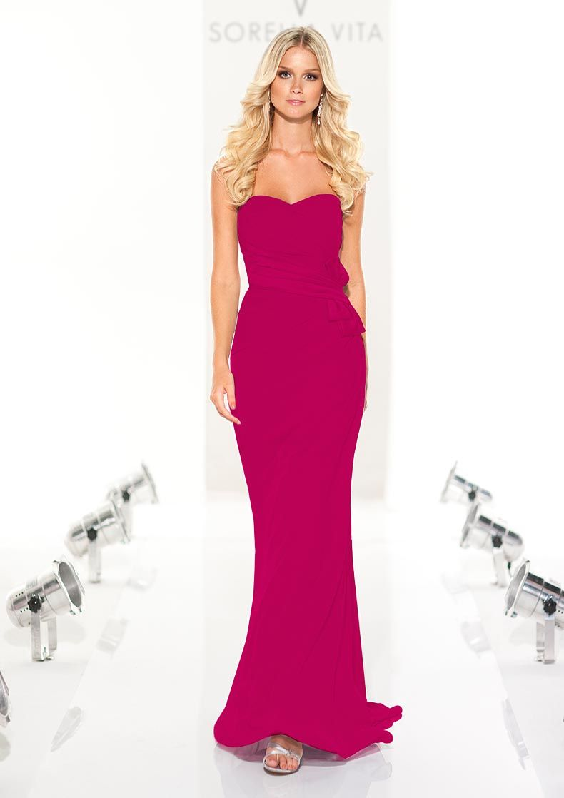 Fuscia bridesmaid dresses would probably look nicer than the aqua ...