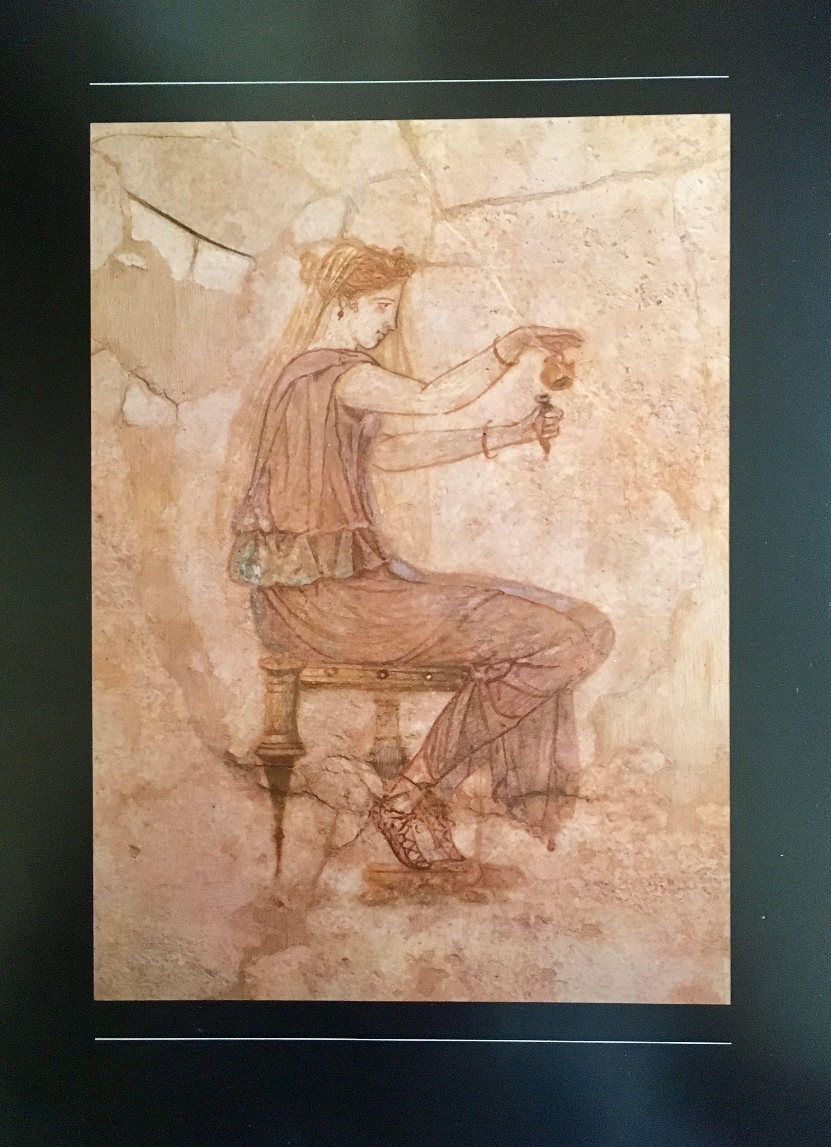 Conosciuto Donna che versa profumo da un'ampolla. I secolo d.C. Roma, Museo  VL37