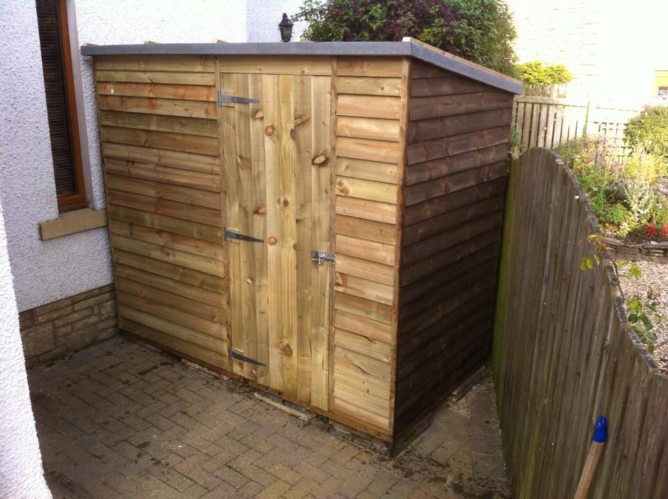 Bespoke shed made with CLS framing, feather edge boards
