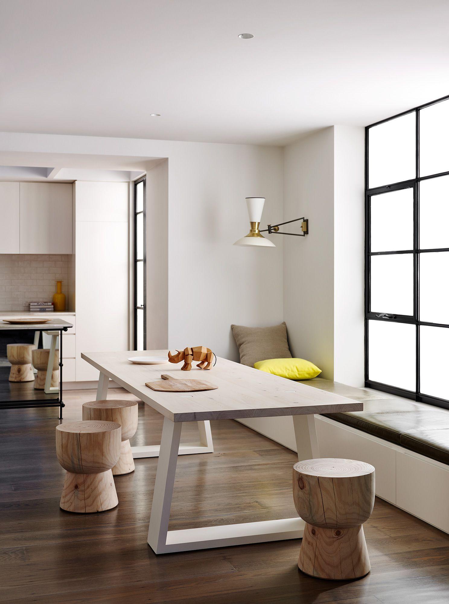 Esszimmer mit küche clean lines  home  pinterest  esszimmer tisch und esstisch