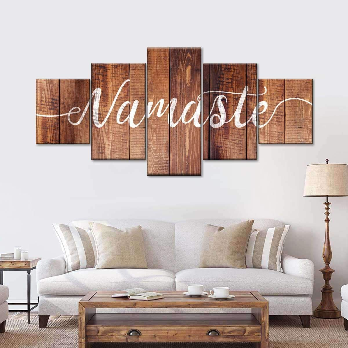 Namaste On Wood Multi Panel Canvas Wall Art Home Decor Wall Art Wall Decor Living Room Family Wall Art