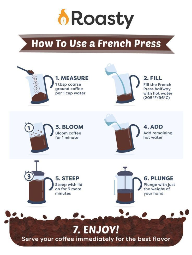 French press coffee is easy to make at home. Follow this how-to guide to make a delicious cup for yourself. #coffee