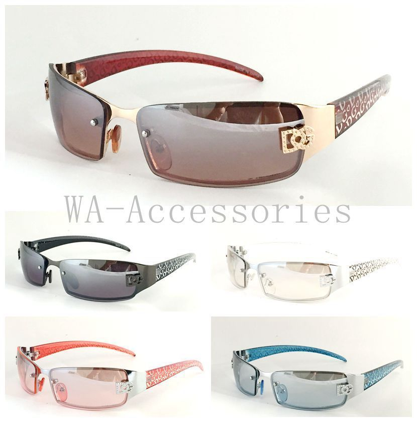 Sungles Designer | New Mens Womens Dg Sunglasses Designer Shades Fashion Rimless Small