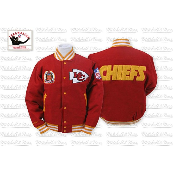 newest 7d5cb cefaf Mitchell & Ness Chiefs NFL Jacket 100% Wool from Gary's ...
