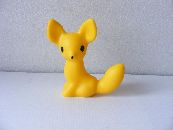 Vintage Children's rubber toy fox by cvetishop on Etsy