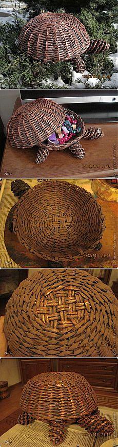 Медная черепашка и малюсенький МК по покраске   Страна Мастеров